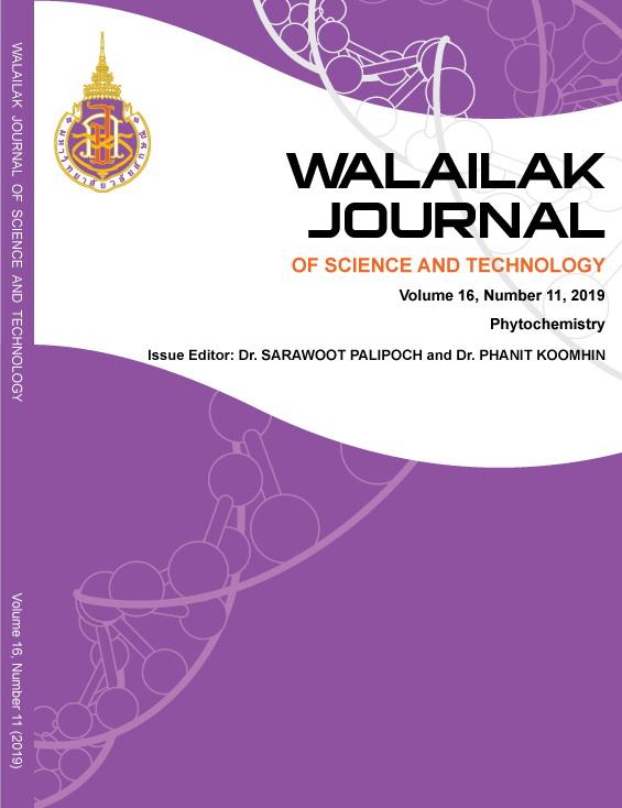 View Vol. 16 No. 11 (2019): Phytochemistry