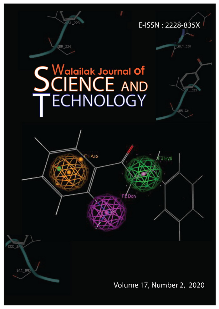View Vol. 17 No. 2 (2020): Walailak Journal of Science and Technology Volume 17, Number 2, February 2020