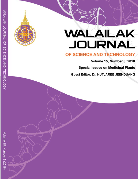 View Vol. 15 No. 8 (2018): Special Issues on Medicinal Plants
