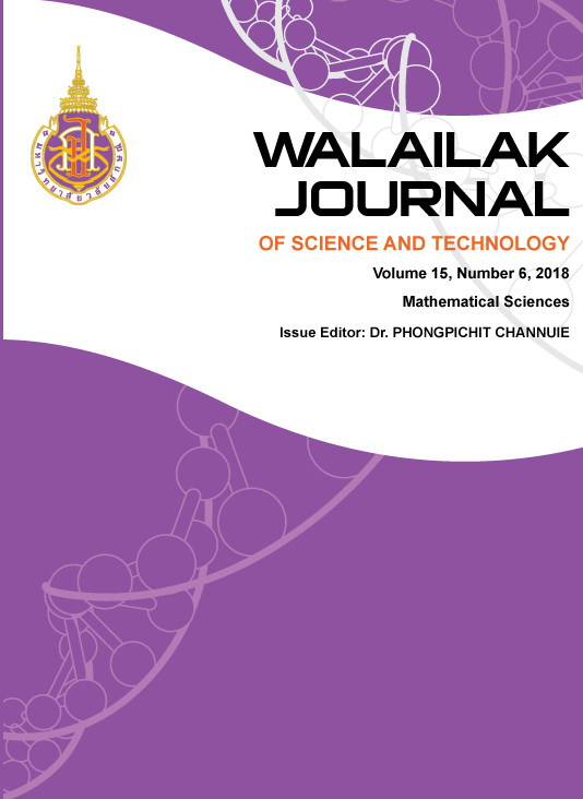 View Vol. 15 No. 6 (2018): Mathematical Sciences